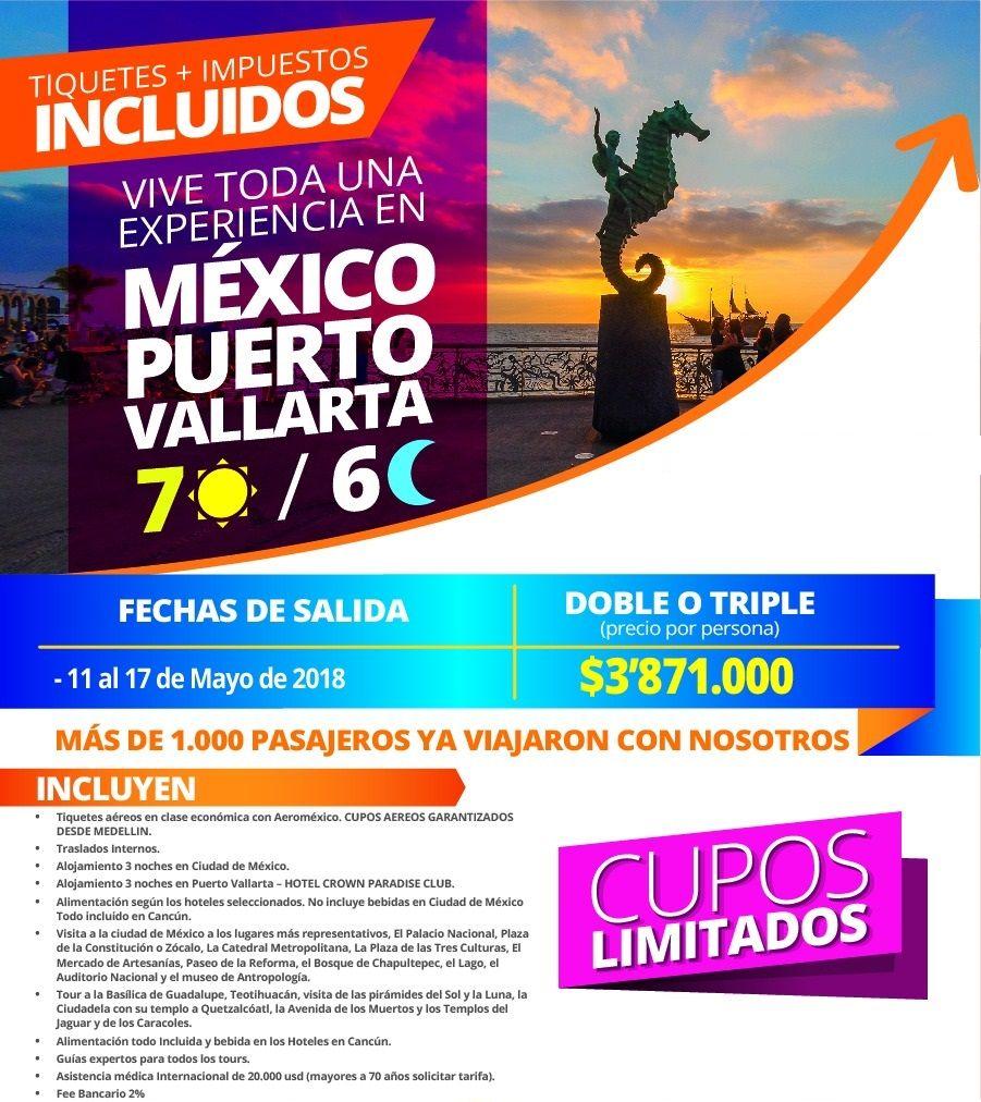 Paquete a Puerto Vallarta México desde Medellín
