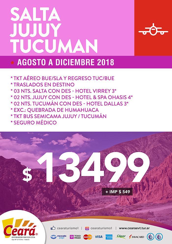 Paquete a Salta Jujuy Tucumán desde Buenos Aires