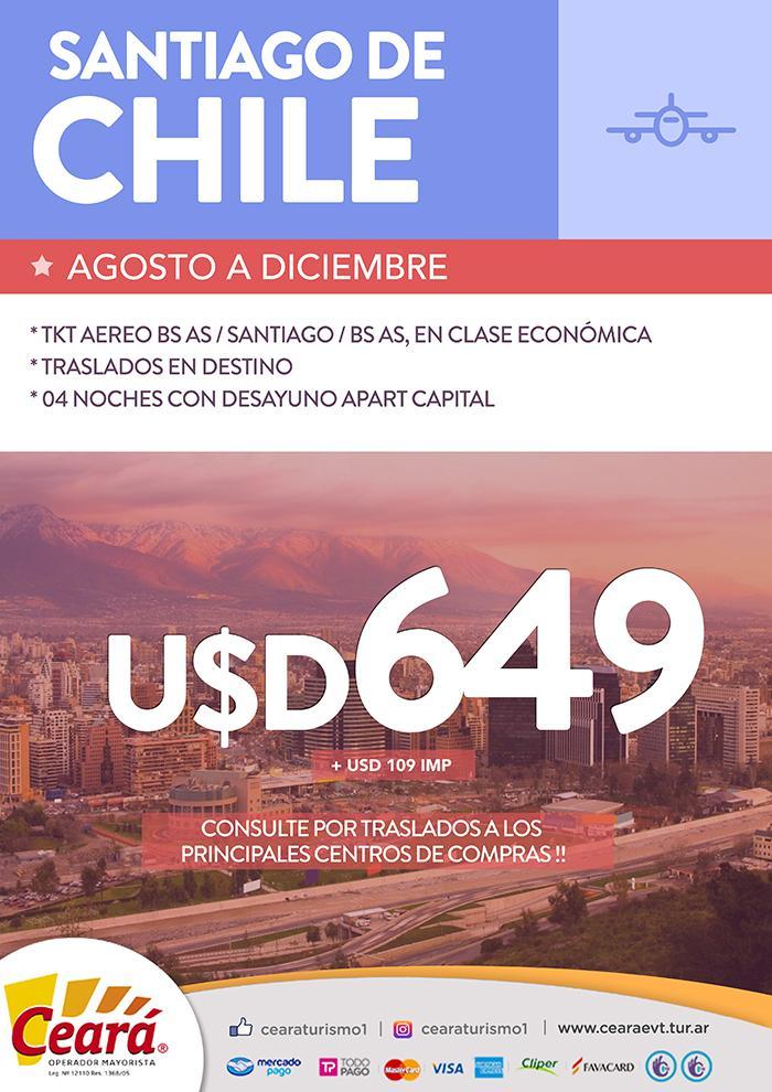 Paquete a Santiago de Chile desde Buenos Aires