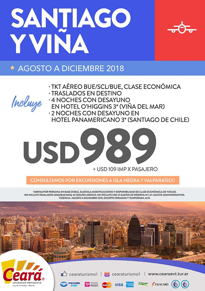 Paquete a Santiago y Viña desde Buenos Aires