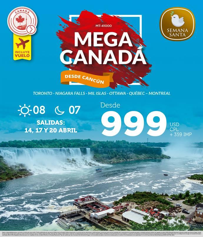 Paquete Semana Santa a Canadá con Vuelos Incluidos