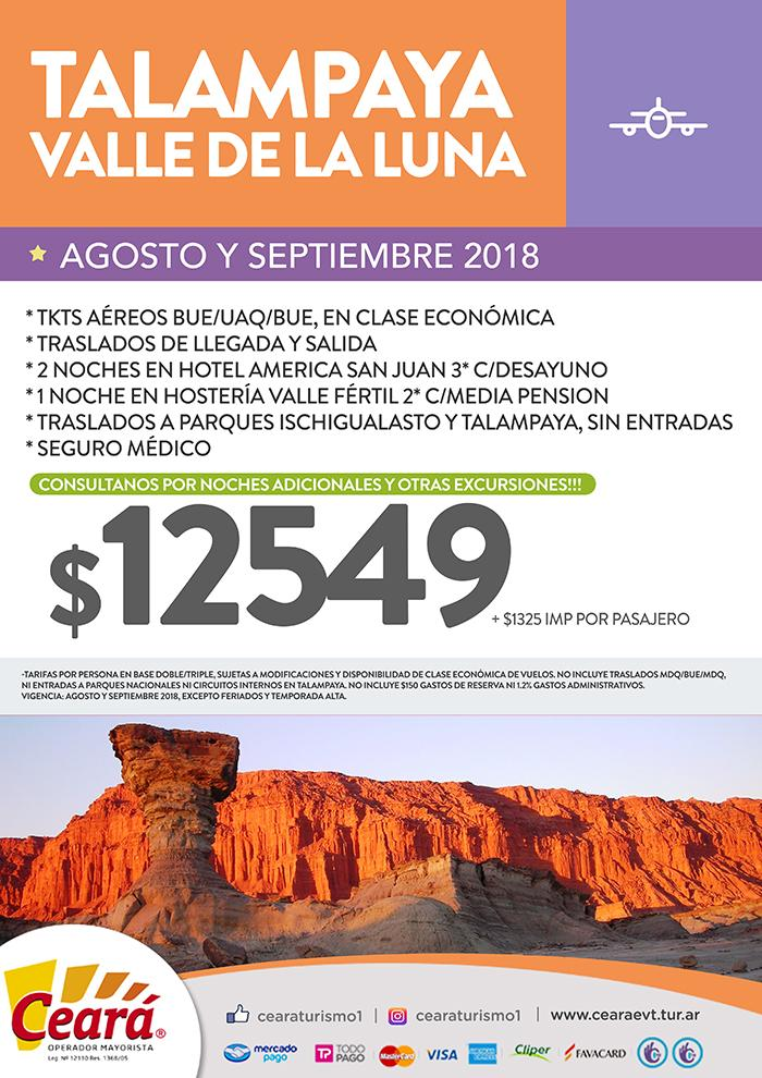 Paquete a Talampaya desde Buenos Aires Agosto a Septiembre 2018