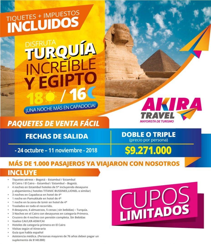 Paquete a Turquía y Egipto desde Bogotá Colombia