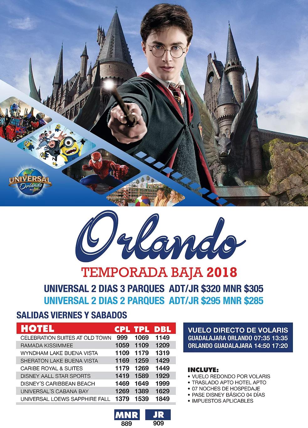 Paquetes a Orlando Todo Incluido desde Guadalajara