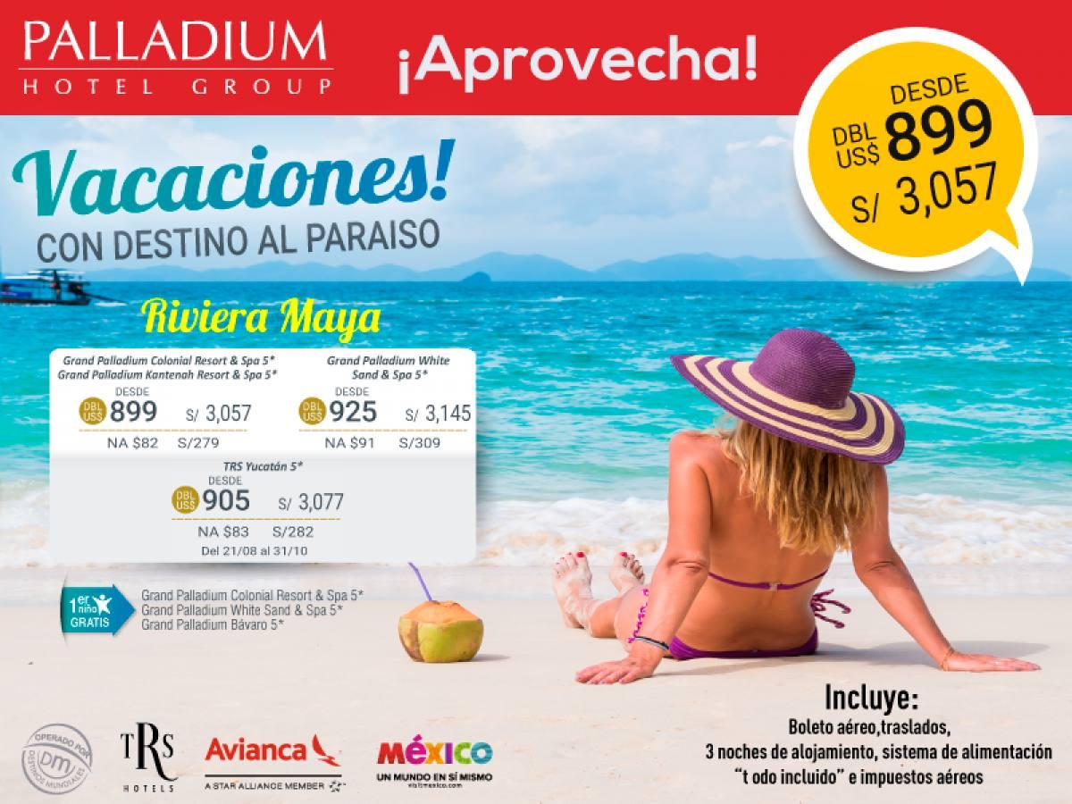 Paquetes a Riviera Maya Todo Incluido Vuelos desde Lima