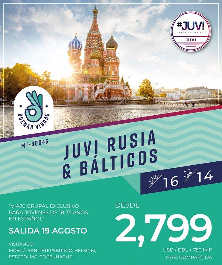 Rusia y Balticos 2019 Viaje Grupal Exclusivo para Jovenes