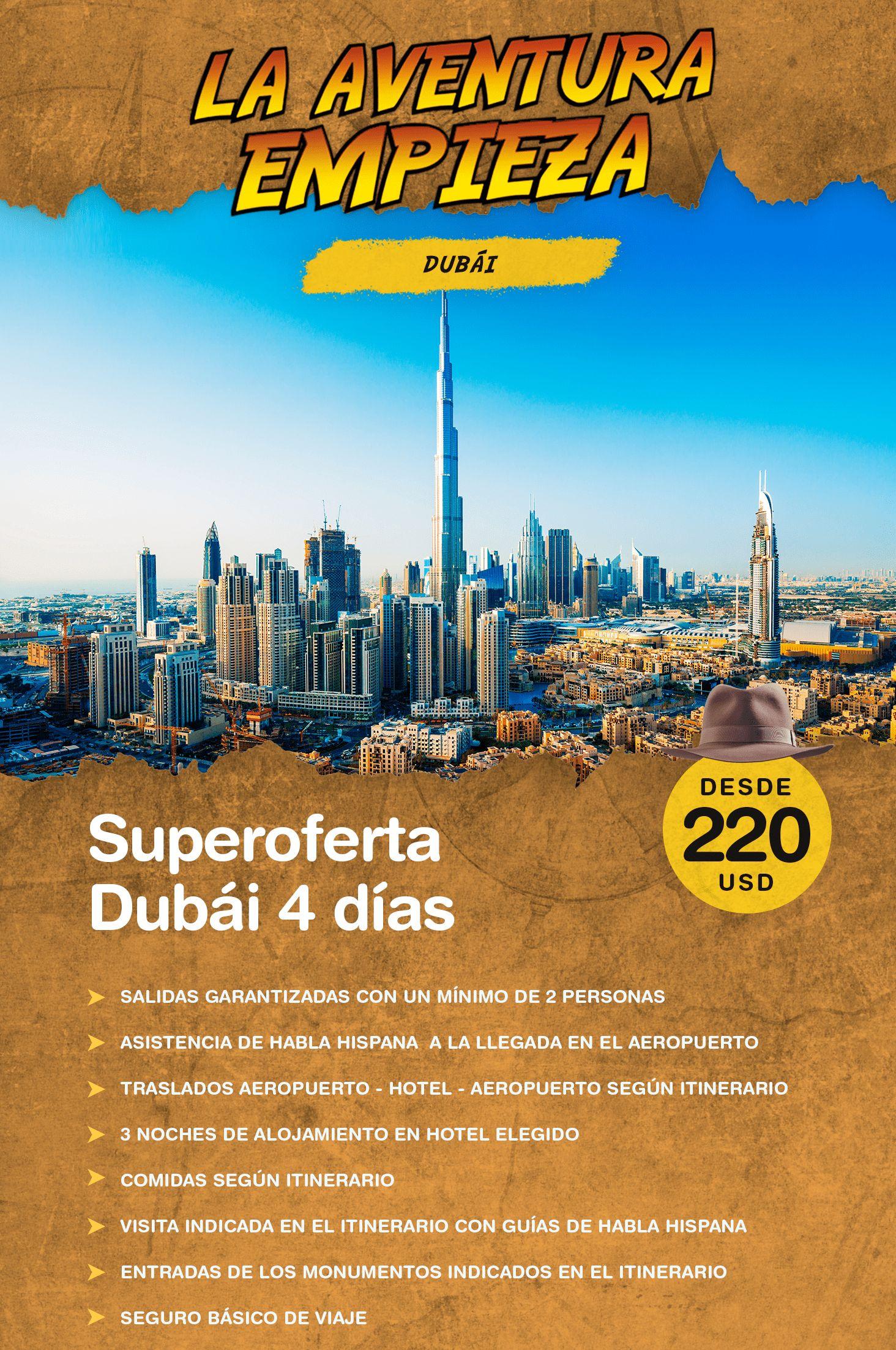 Super Oferta Dubái 4 Diás