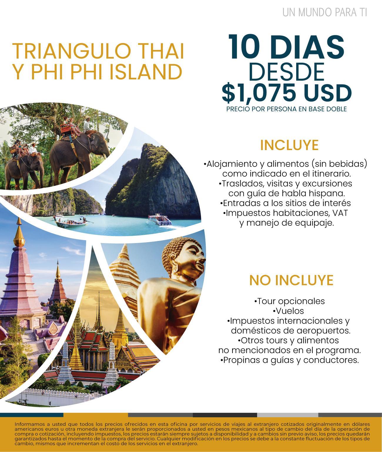 Tailandia Triangulo Thai y Isla Phi Phi