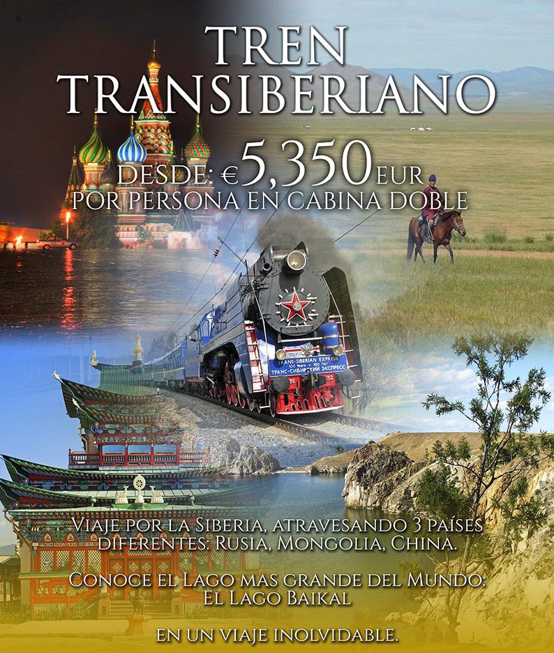 Tren Transiberiano 2018 Rusia Mongolia China