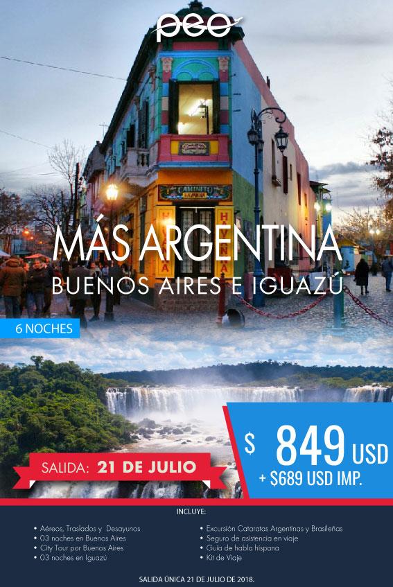 Viaje a Argentina Buenos Aires y Iguazú todo incluido