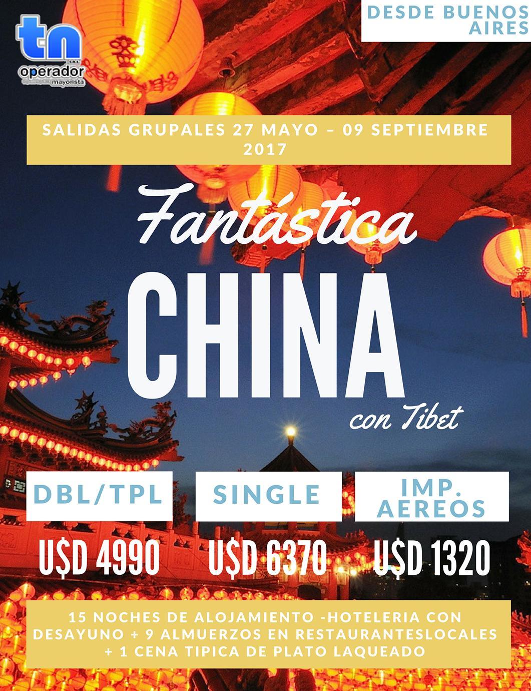 Viaje a China con Tibet desde Buenos Aires