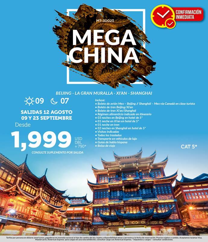 Viaje a China Todo Incluido desde México