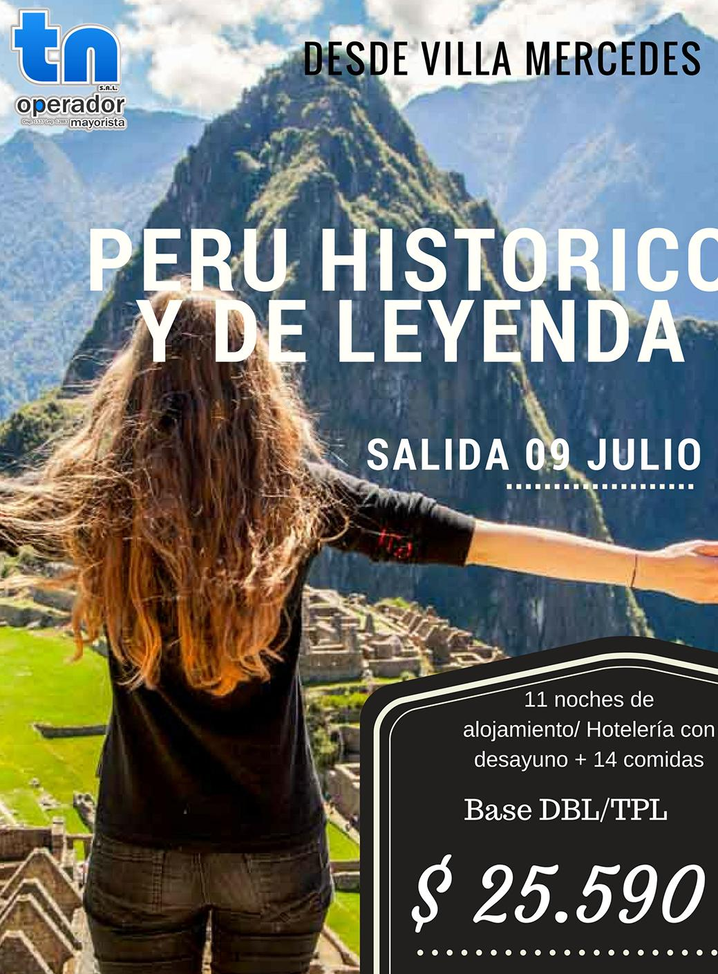 Viaje a Perú desde Villa Mercedes 09 de Julio 2018