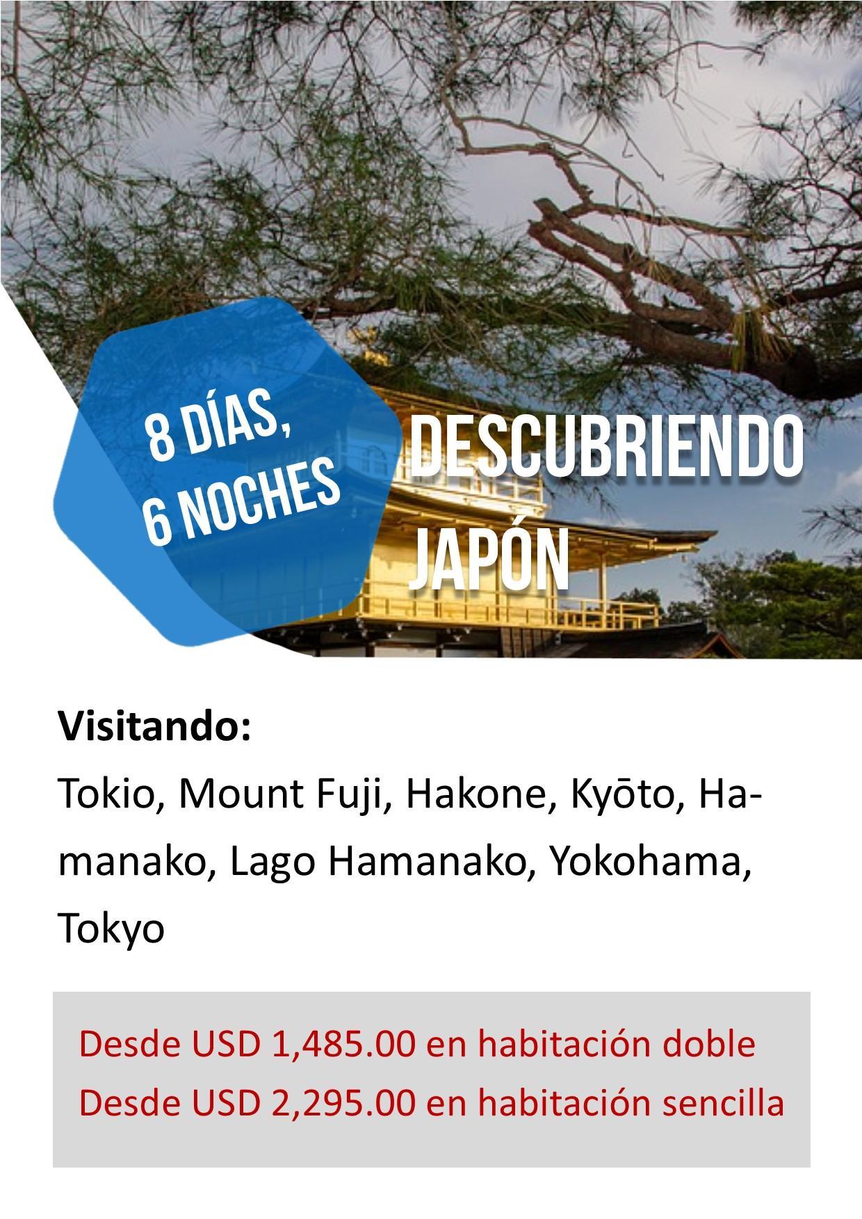 Viaje Promocional JAPÓN 8 Días